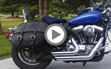 2007 Harley Davidson Sportster 1200 Custom Motorcycle Saddlebags Review
