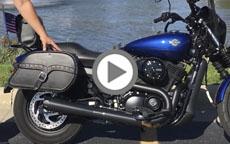 2016 Harley Davidson Street 500 Motorcycle Saddlebags