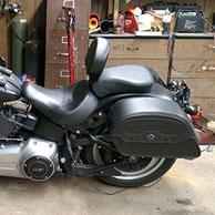 Derek's Harley-Davidson Softail Fat Boy Lo w/ Warrior Series Leather Motorcycle Saddlebags