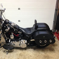 Gord's Harley-Davidson Softail Slim w/ Leather Motorcycle Saddlebags
