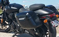 Kenneth Edward's Kawasaki Mean Streak w/ Lamellar Hard Bags
