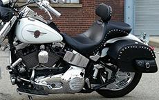 Timothy Ingle's '00 Kawasaki Mean Streak w/ Side Pocket Studded Motorcycle Bags