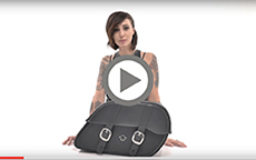 Harley Street Charger large Shock Cutout Large Slanted Bags Installation Video