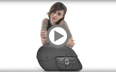 Harley Dyna Charger Side Pocket Motorcycle Saddlebags W Shock Cutout Manufacturer Video