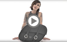 Thor Series Small Harley Sportster Saddlebags Installation Video 1