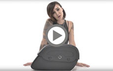 Harley Street Warrior Large Shock Cutout Motorcycle Saddlebags Manufacturer Video
