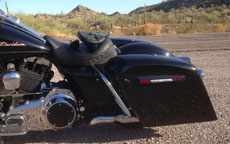 Gerald's '09 Harley-Davidson Road King w/ Extended Touring Bagger Painted Motorcycle Saddlebags
