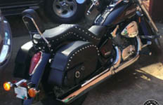 Larry's Honda Shadow w/ Side Pocket Saddlebags