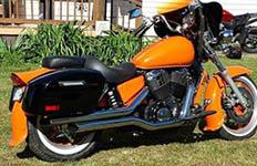 02 Honda Shadow Spirit 1100 w/ Lamellar Hard Saddlebags