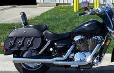 04 Honda Shadow Sabre w/ Trianon Leather Saddlebags