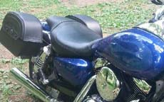 Everett's Kawasaki Mean Streak 1600 w/ Charger Leather Saddlebags