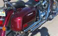 01 Kawasaki Vulcan Classic 1500 w/ Custom Painted Lamellar Hard Saddlebags