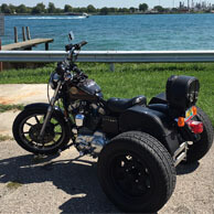 Mark's '94 Harley-Davidson Sportster Trike w/ Charger Leather Saddlebags & Leather Sissy Bar Bag