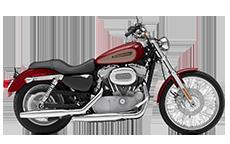 Harley Davidson Sportster 883 Custom Motorcycle Saddlebags
