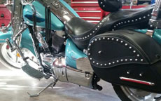 Christopher's '98 Suzuki Intruder 1500 VL w/ Ultimate Shape Studded Saddlebags