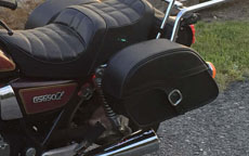Steve's '82 Suzuki GS 650 L w/ Charger Single Strap Saddlebags