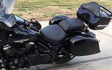 Vernon's Yamaha V-Star w/ Lamellar Hard Bags & Trunk