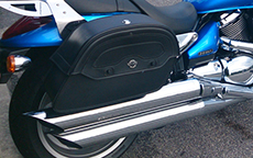 Bryant Sims' Yamaha Road Star w/ Warrior Motorcycle Bags