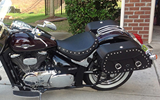 Leon Winkler's 2012 Yamaha V-Star w/ Pinnacle Studded Motorcycle Bags