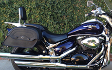 Lonnie Pennington's Yamaha V-Star w/ Warrior Motorcycle Bags