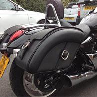 Triumph Thunderbird 1700 w/ Quarter Circle Motorcycle Saddlebags
