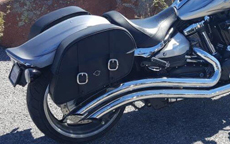 Jeremy's '09 Yamaha Raider w/ Charger Leather Saddlebags