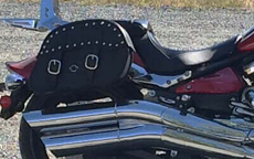 MatMatt's Yamaha Raider w/ Charger Leather Saddlebagst's Yamaha Raider w/ Studded Motorcycle Saddlebags