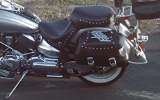 Michael's Yamaha V Star 1100 w/ Studded Motorcycle Trunk