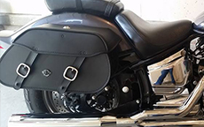 Rachel's 05 Yamaha V Star Custom w/ Pinnacle Motorcycle Saddlebags