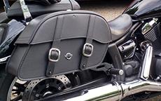 Bruce's 2009 Yamaha VStar 950 w/ Charger Slanted Motorcycle Saddlebags