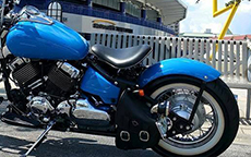 Mark's Yamaha V Star 650 Custom w/ Swing Arm Bag