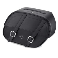 Harley Dyna Low Rider Char Shock Cutout Motorcycle Saddlebags