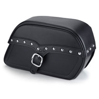Harley Dyna Fat Bob Universal SS Slanted Studded Medium Motorcycle Saddlebags