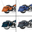 Touring Primered Stretched Saddlebags on Different Bike View