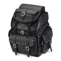 Honda Backrest Studded Leather Motorcycle Sissy Bar Bag