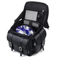 Kawasaki Leather Backrest Motorcycle Sissy Bar Bag Inside View