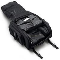 Kawasaki New Viking Leather Motorcycle Sissy Bar Bags Inside View