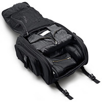 Hysoung New Viking Leather Motorcycle Sissy Bar Bags Inside View