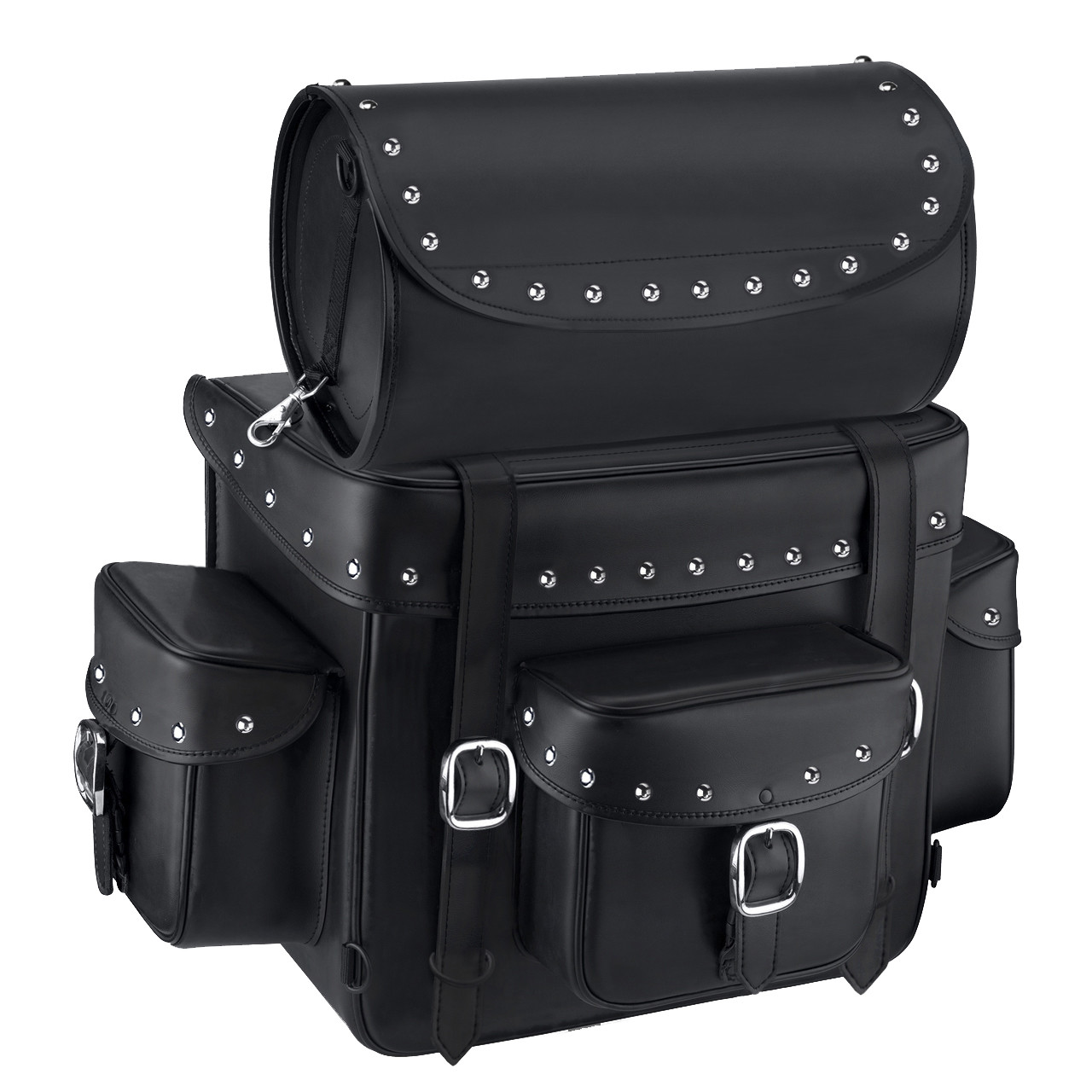 Victory Nomad Revival Series Large Studded Motorcycle Sissy Bar Bag