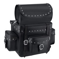 Victory Nomad Revival Series Large Studded Motorcycle Sissy Bar Bag Front View