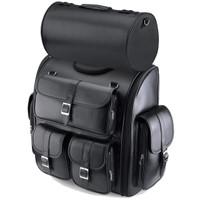 Honda Viking Classic Leather Motorcycle Sissy Bar Bag Main Image