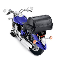 Harley Davidson Viking Warrior Hard Shell Motorcycle Sissy Bar Bag On Bike View 2
