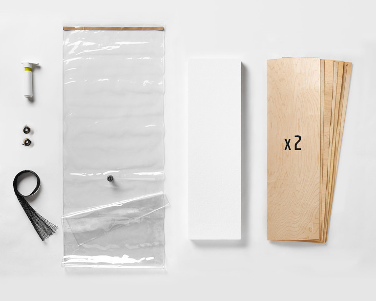Once you have the hang of vacuum laminating a board, advance to this ProBuilder Kit and totally customize or prototype skateboards.