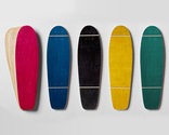 Five sets of Lil'Rockit-shaped maple veneer 7-layer sets, each one includes a random color dye-infused sheet
