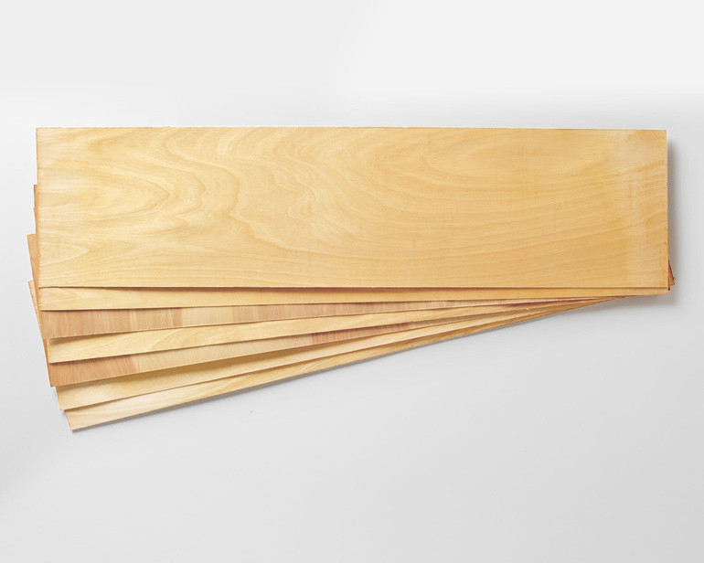 Canadian Birch has more flex and is the lightest veneer that we offer.