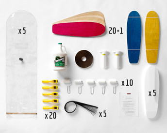 This Multi-Pack provides enough material for a group of 20 students to all build mini-cruisers