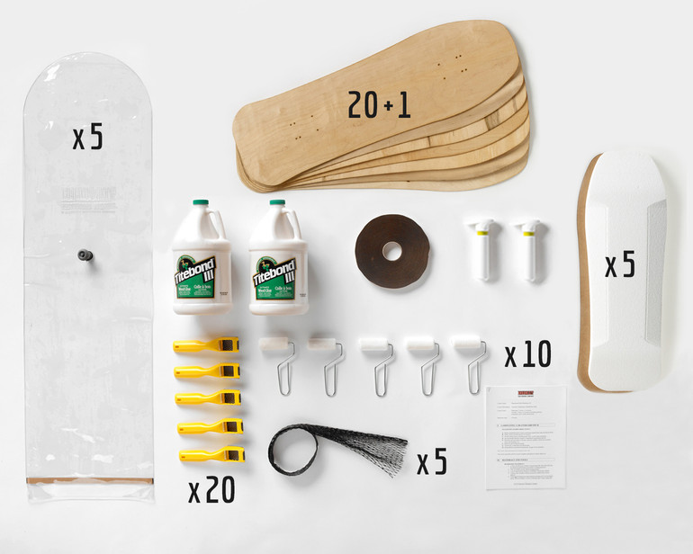 This Multi-Pack provides enough material for a group of 20 students to all build Old School boards