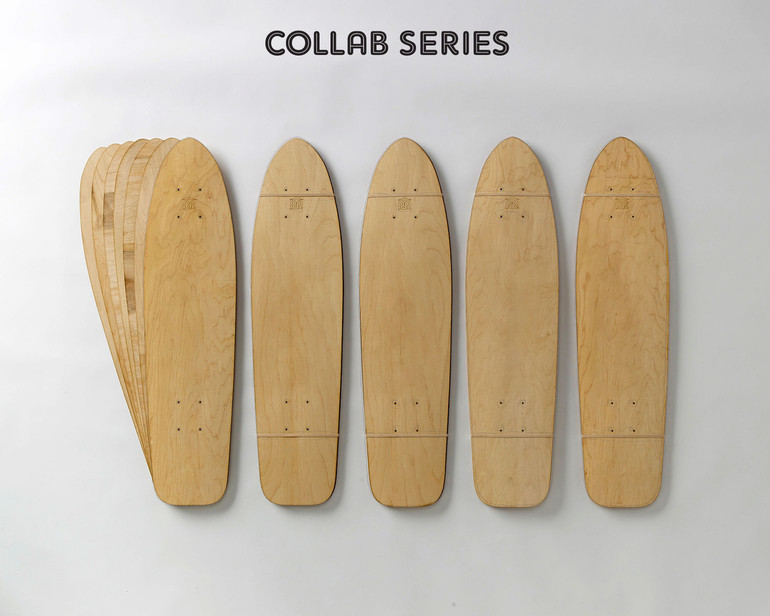 Five sets of 7-layer Replay-shaped maple veneer.