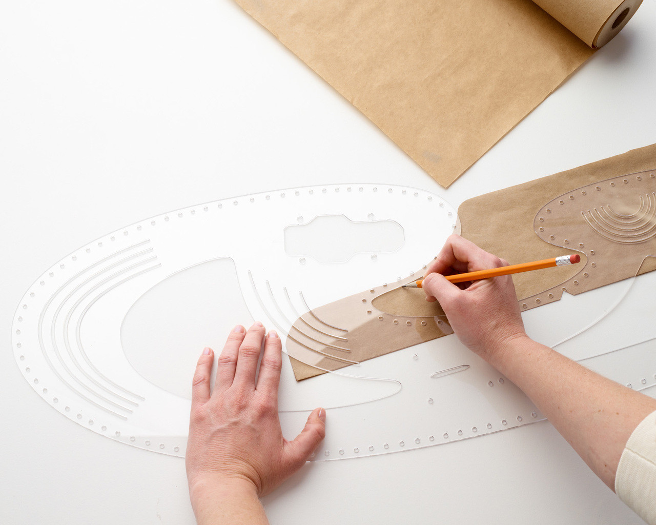 Curvy Large Drawing Template