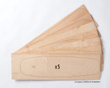 Five sets of Multiboard Street Deck maple veneer 7-layer sets, each set allows you to make 1 of 9 possible board shapes.